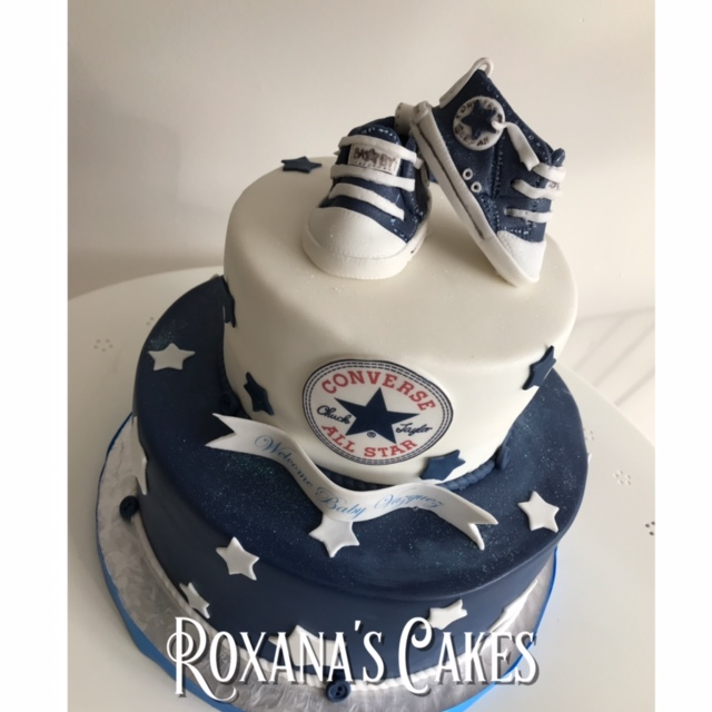 ba7f8bf218cc Baking with Roxana s Cakes  Converse themed Baby Shower Cake