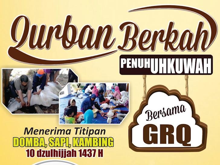 Pondok Tahfizh GRQ menerima Titipan hewan Qurban 10 dzulhijjah 1437 H