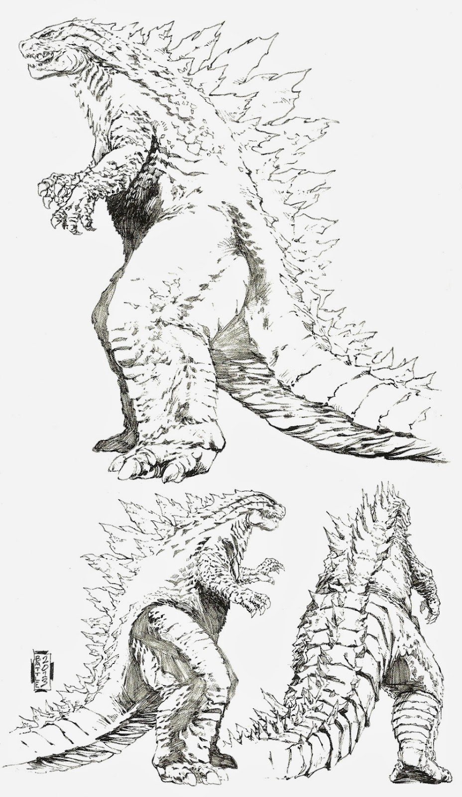 Every day is like wednesday review godzilla awakening for Disegno terra da colorare