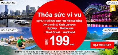 Đặt vé máy bay thỏa sức vi vu từ Air Asia