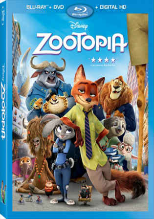 Zootopia 2016 BluRay 350MB Hindi Dual Audio 480p