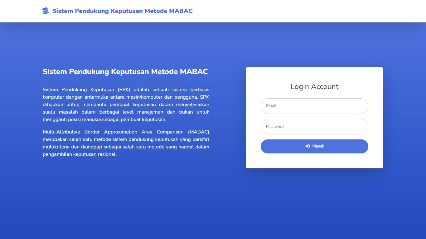 Aplikasi Sistem Pendukung Keputusan Seleksi Penerimaan Karyawan/Pegawai Metode MABAC - SourceCodeKu.com