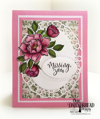 Our Daily Bread Designs Stamp/Die Duos: Hello Friend, Paper Collection, Romantic Roses, Layered Lacey Ovals, Ovals, Double Stitched Rectangles, Rectangles