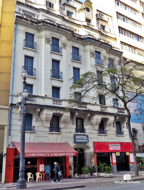 Vista ampla do Hotel Manchete - Campos Elíseos - São Paulo