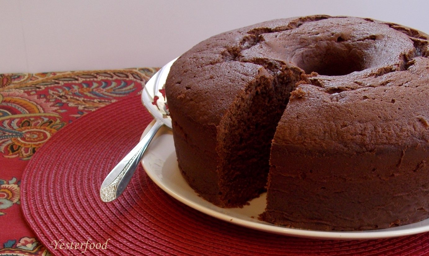 Chocolate Pound Cake With Chocolate Syrup