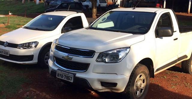 Iretama: PM recupera dois veículos roubados