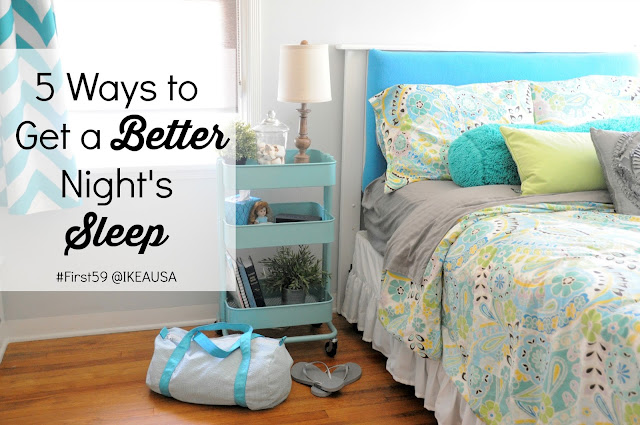 5 Ways to Get a Better Night's Sleep :: OrganizingMadeFun.com