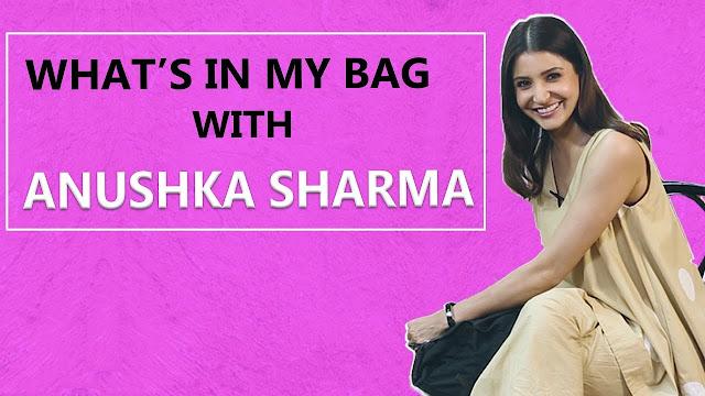 See Whats Inside Anushka Sharma Bag