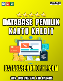 Jual Database Pemilik Kartu Kredit