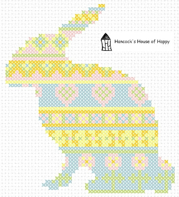 free easter bunny cross stitch chart, easter sampler, classic cross stitch, cruz punto gratis