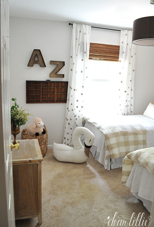 One Of My Favorite Accessories In The Room Is Oversized Stuffed Swan From Land Nod Amelia And Zeke Love Playing On It