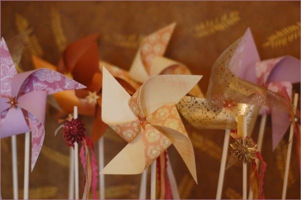 de Lovely Affair: Wedding DIY Round Up: Pinwheels, Flowers ...