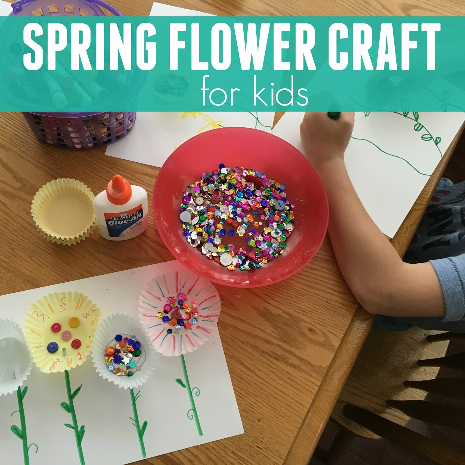 Toddler approved simple spring flower craft last year we made these pretty spring flowers as part of our spring party for preschoolers this year im living day to day with the arrival of baby 4 so mightylinksfo