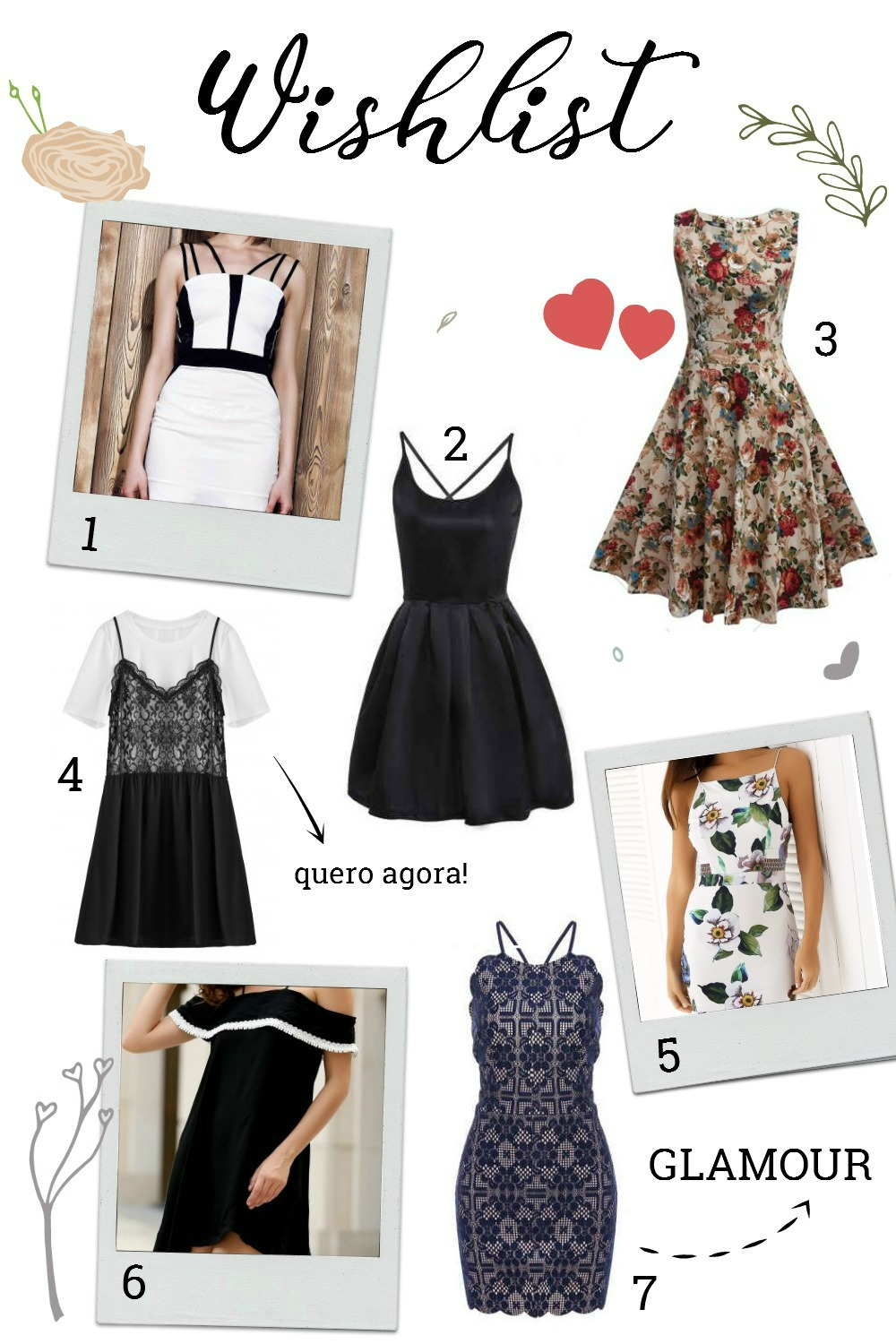 Wishlist de mini vestidos sexys na Rosegal