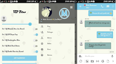 BBM Material Color Design Blue Sky Theme MOD V3.0.0.18 Apk
