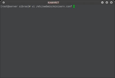 Jika muncul tampilan seperti diatas itu dan kalian belum menginstall ssl pada centos kalian maka kita akan mendisable ssl pada webminnya dengan cara edit file pada /etc/webmin/miniserv.conf