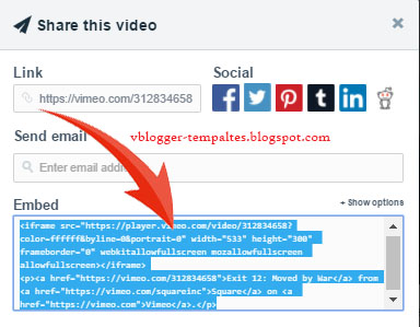 How to Embed VIMEO videos in Blogger? | Free Video Blogger