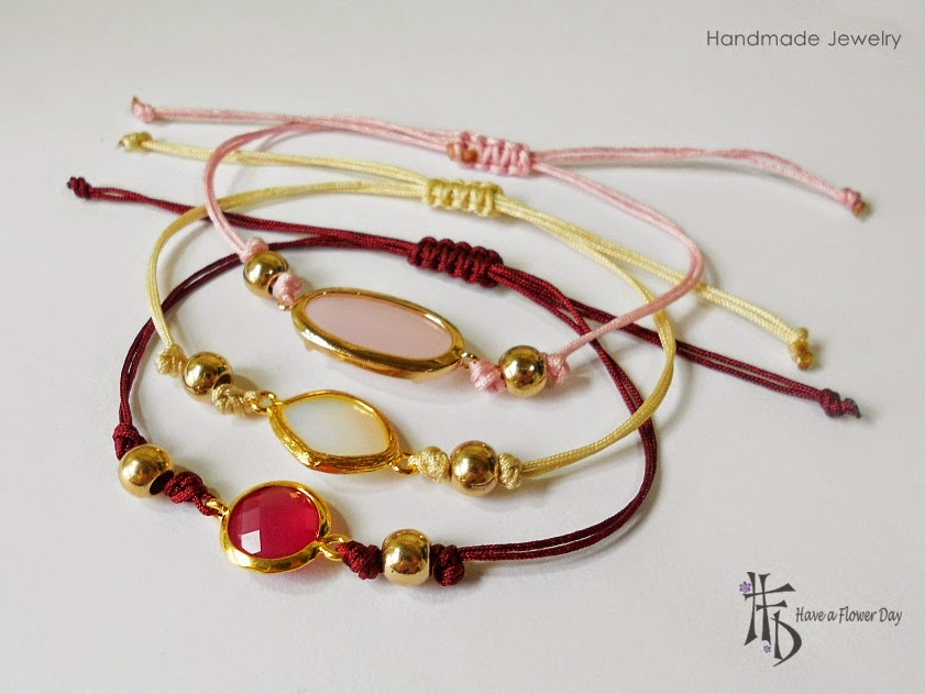 TILOS #02. Pulseras con ágatas · Agate bracelets