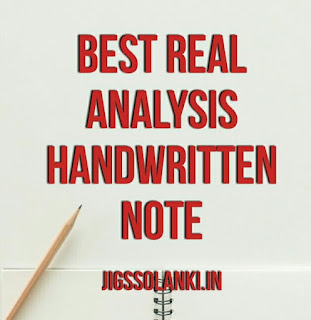 BEST REAL ANALYSIS HANDWRITTEN NOTE