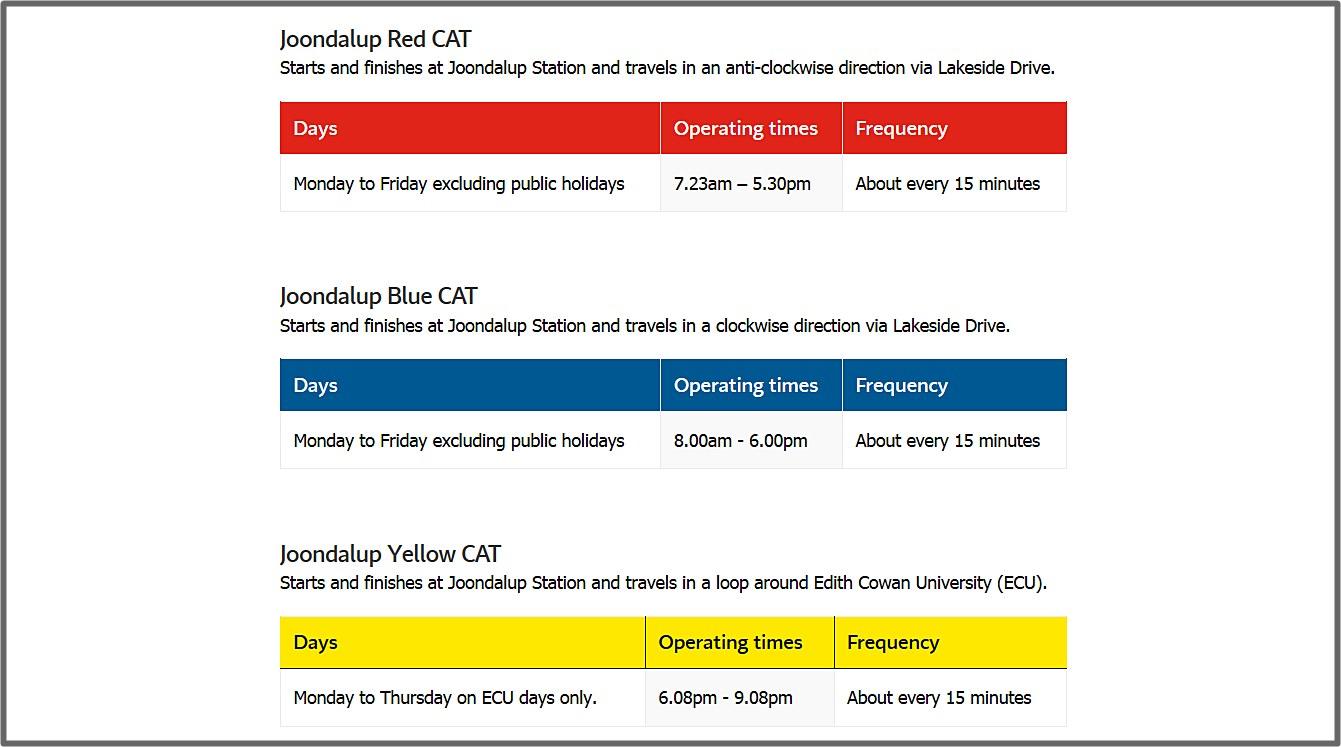 澳洲-伯斯-交通-貓公車-巴士-市區-票價-路線-時刻表-攻略-推薦-便宜-免費-自由行-旅遊-Perth-Transport-Free-CAT-Bus