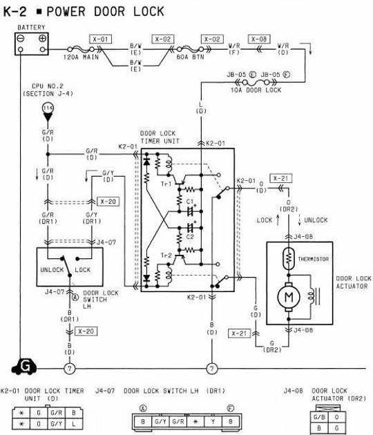 diagram on wiring 1994 mazda rx7 power door lock wiring