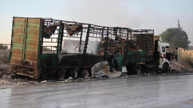 """Informe: Ataque al convoy de ayuda de ONU en Siria fue """"montaje"""""""