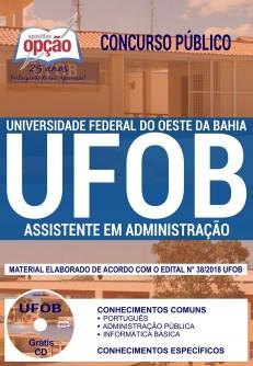 Apostila Assistente em Administração UFOB 2018