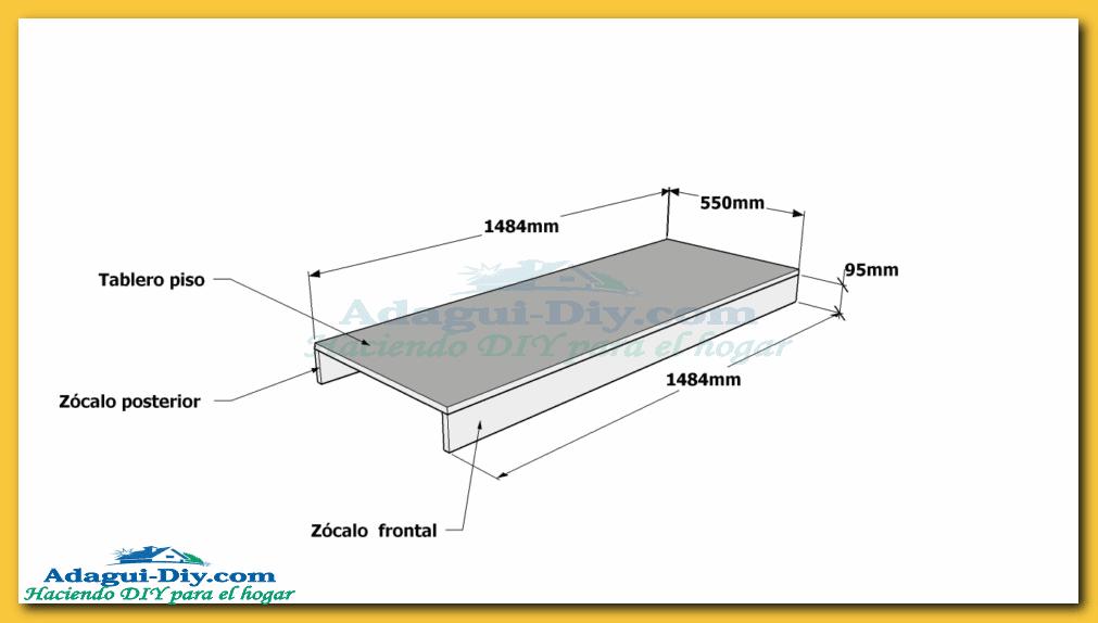 Como hacer muebles de cocina plano mueble bajo mesada de for Planos de amoblamientos de cocina