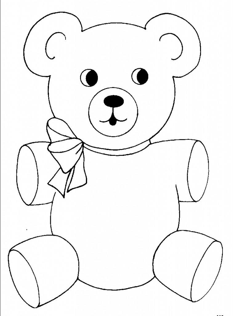 Tranh tô màu chú gấu đáng yêu, dễ thương cho các bé tập tô 12
