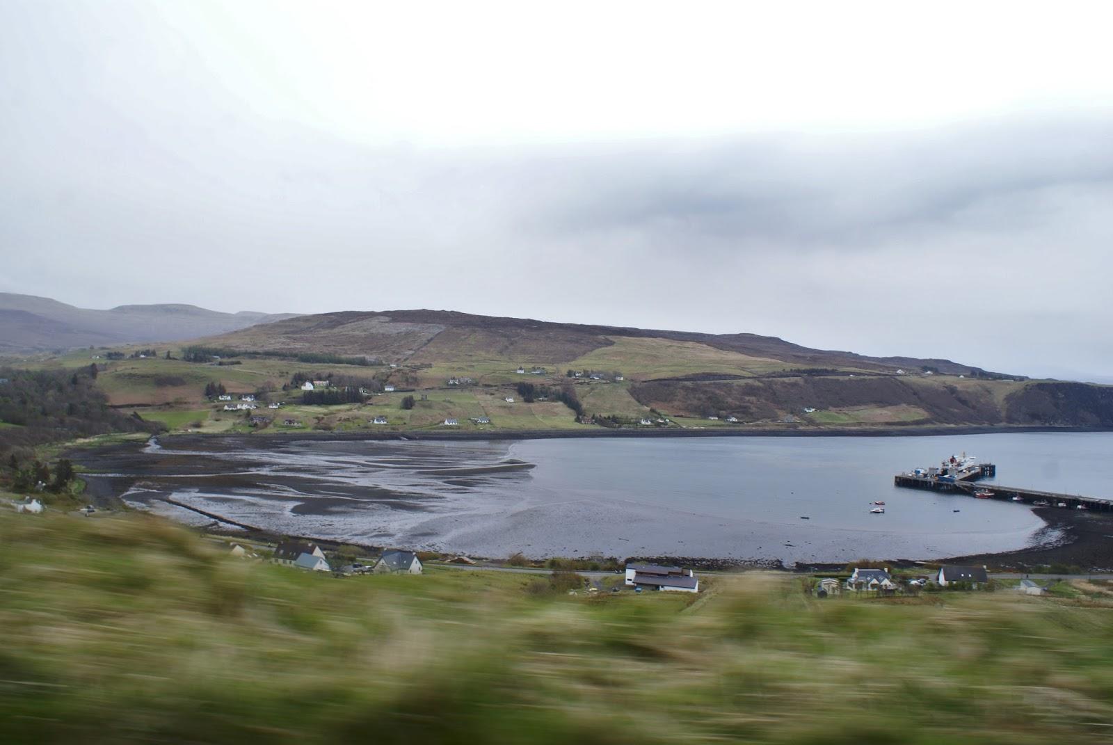 black beach isle of skye uig scotland united kingdom uk