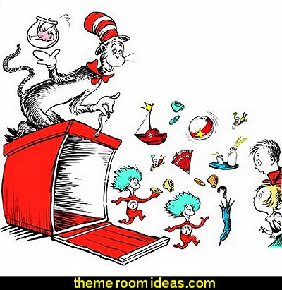 Dr. Seuss Giant Crate Bulletin Board Sets  Dr Seuss bedroom ideas - Dr.Suess bedroom decor - Dr Seuss Bedding - dr. seuss nursery  - decorating ideas  cat in the hat theme bedrooms -  Dr Seuss wall decal stickers - DR SEUSS wall mural decal - Dr. Suess playroom ideas - Dr. Seuss Plush Toys