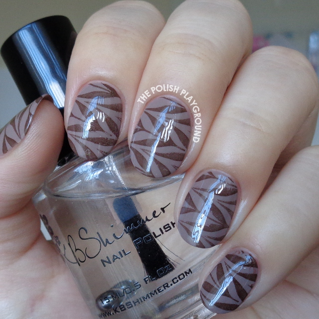 Coffee Inspired Water Marble Stamping Nail Art