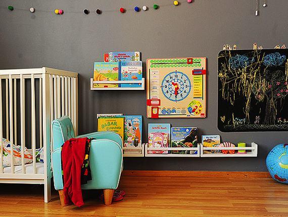 Estante reciclada para livros infantis pra gente mi da for Libreria per bambini ikea