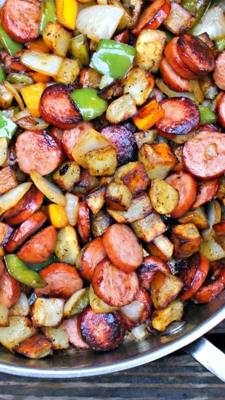 #Kielbasa, #Pepper, #Onion and #Potato #Hash