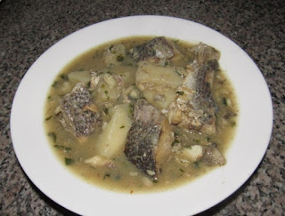 Yam pepper soup cooked with fish