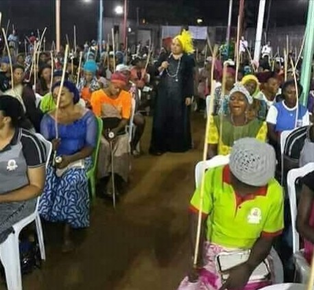 Female Church Members Bring Canes To Church To Flog Spiritual Husbands