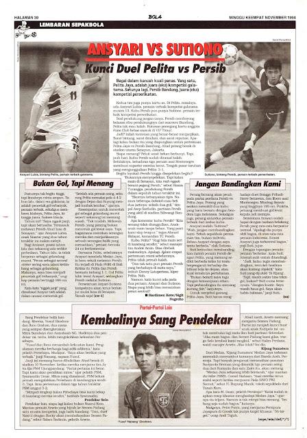 ANSYARI VS SUTIONO Kunci Duel Pelita vs Persib