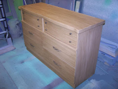 1970s Blonde Dresser Restore Before