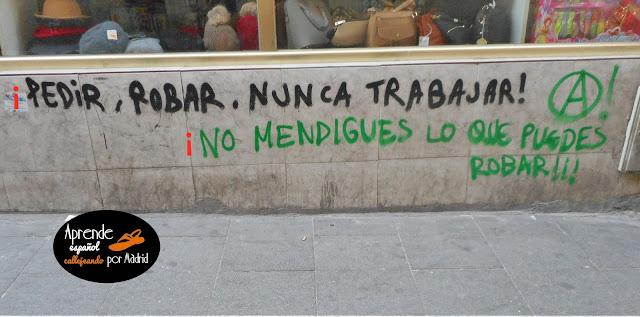 Aprende español callejeando por Madrid: Robado sabe mejor