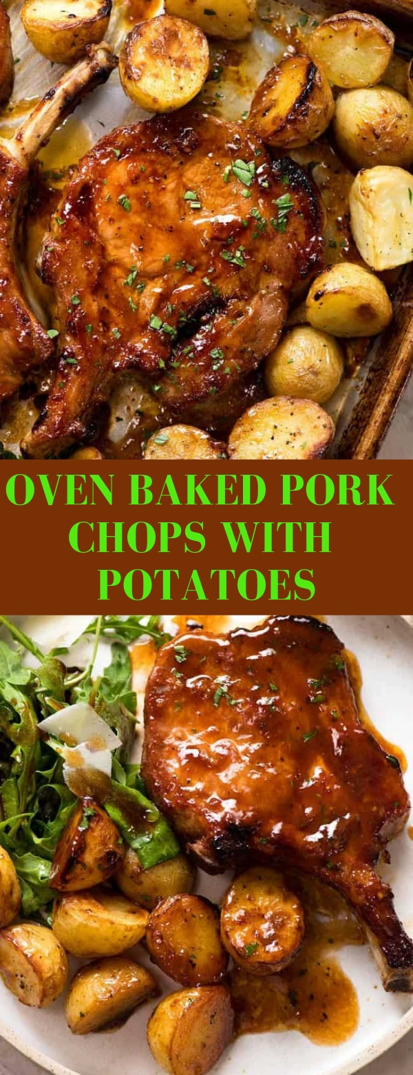 Oven Baked Pork Chops with Potatoes #PORKCHOPS #POTATOES #DINNER