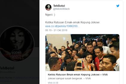 Ngakak! VIVA Kabarkan Jokowi Dikepung Ratusan Emak-Emak, Warganet: Emak-Emak Sekarang Berkumis Ya?