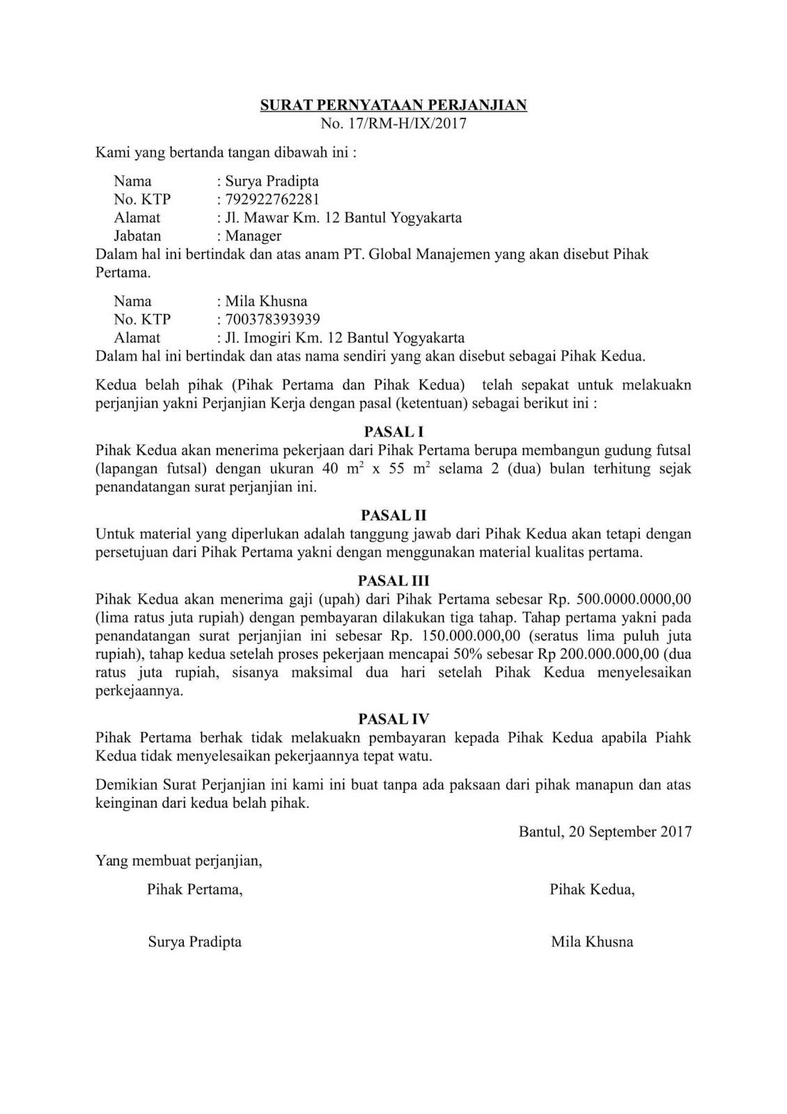 15+ Contoh Surat Pernyataan yang Baik dan Benar Terlengkap ...