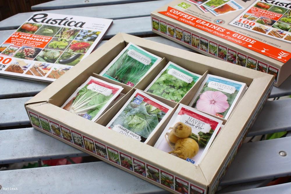 52 sachets de graines  et livret Rustica