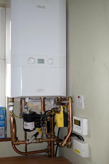 condenser boiler zoned heating installation