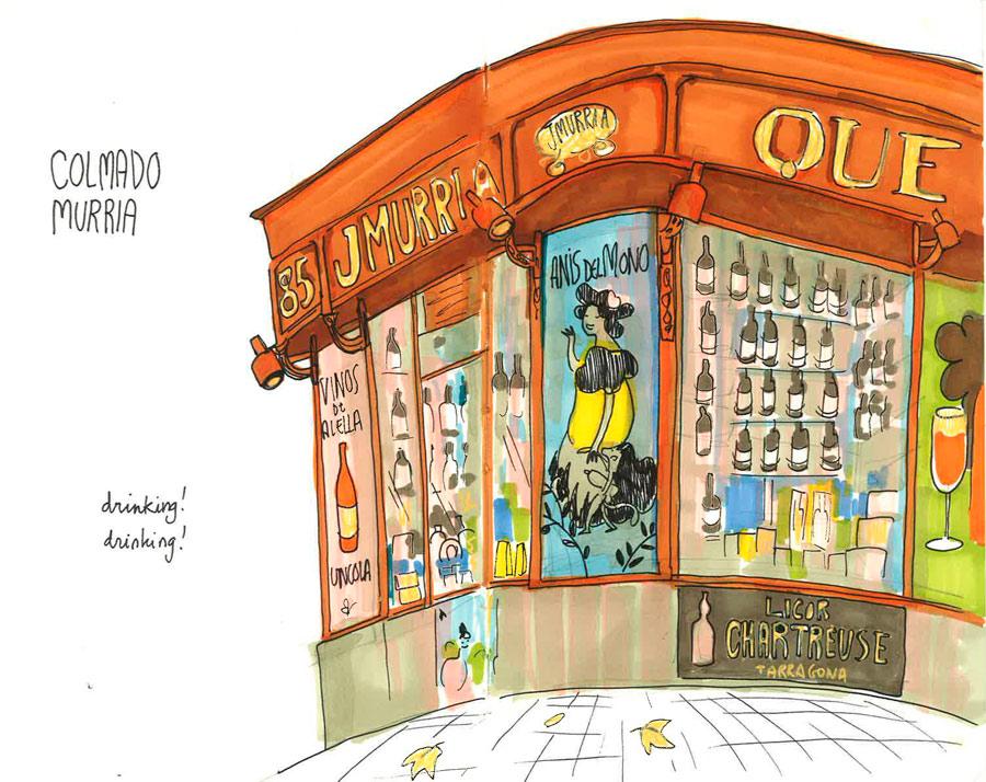 Concurso De Dibujo Urbano En Libreta Fnac Madrid: Elva Vázquez Lombardía
