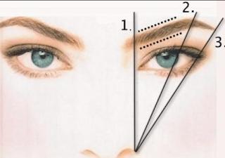 cara Menemukan titik lengkung alis
