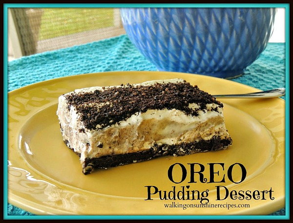 You're going to love this easy and delicious Oreo Pudding Dessert from Walking on Sunshine Recipes.