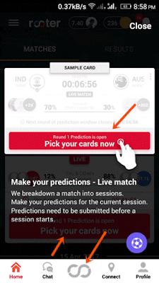 prediction button