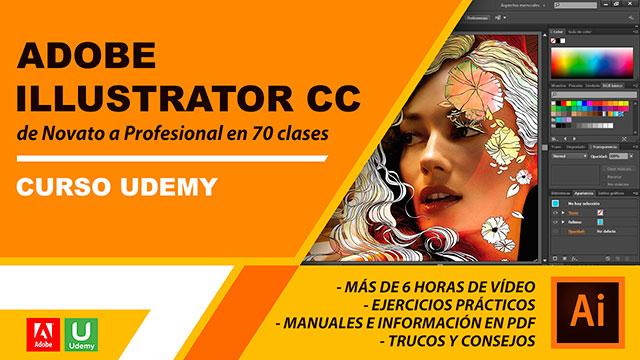 Curso Udemy Adobe Illustrator CC de Novato a Profesional en 70 clases