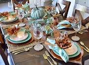 Eucalyptus & Copper Fall Tablescape